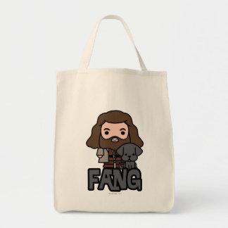 Cartoon Hagrid en het Art. van het Karakter van de Draagtas