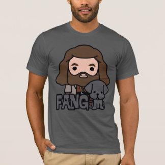 Cartoon Hagrid en het Art. van het Karakter van de T Shirt