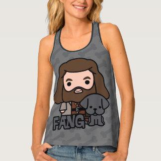 Cartoon Hagrid en het Art. van het Karakter van de Tanktop