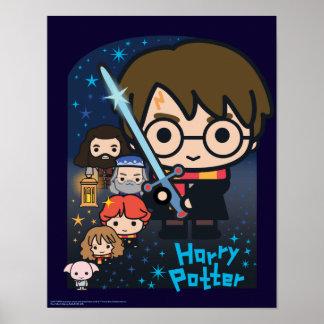 Cartoon Harry Potter Chamber van Grafische Poster