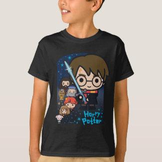 Cartoon Harry Potter Chamber van Grafische T Shirt