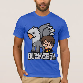 Cartoon Harry Potter en Buckbeak T Shirt