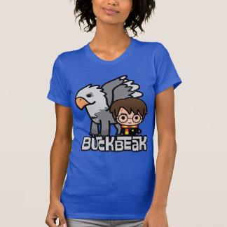 Cartoon Harry Potter en Buckbeak T Shirt