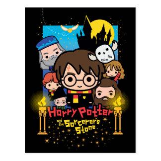 Cartoon Harry Potter en de Steen van de Tovenaar Briefkaart