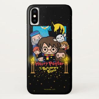 Cartoon Harry Potter en de Steen van de Tovenaar iPhone X Hoesje