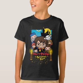 Cartoon Harry Potter en de Steen van de Tovenaar T Shirt