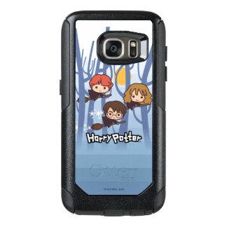 Cartoon Harry, Ron, & Hermione die in Bos vliegen OtterBox Samsung Galaxy S7 Hoesje