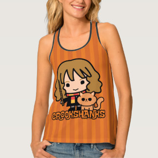 Cartoon Hermione en Crookshanks