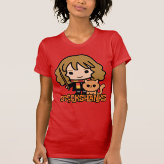 Cartoon Hermione en Crookshanks T Shirt