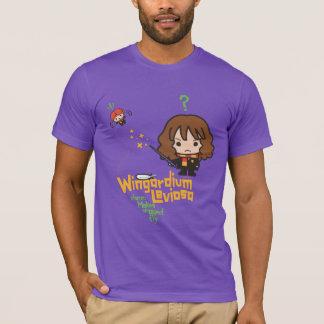 Cartoon Hermione en de Werktijd van Ron Wingardium T Shirt