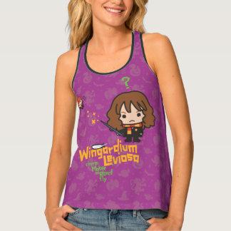 Cartoon Hermione en de Werktijd van Ron Wingardium Tanktop