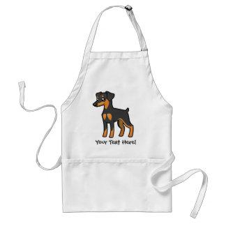 Cartoon MiniatuurPinscher/Manchester Terrier Standaard Schort