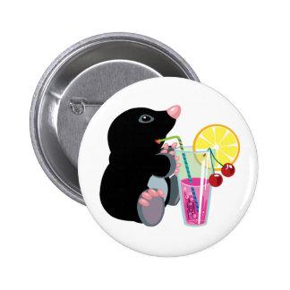 cartoon mol die cocktail drink ronde button 5,7 cm