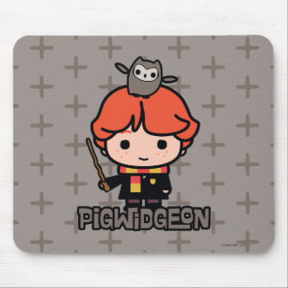 Cartoon Ron Weasley en Pigwidgeon Muismat