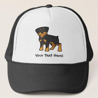 Cartoon Rottweiler Trucker Pet