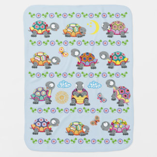 cartoon schildpadden kinderwagen dekentjes