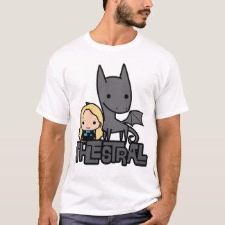 Cartoon Thestral en Luna het Art. van het Karakter T Shirt