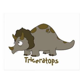 Cartoon Triceratops Briefkaart