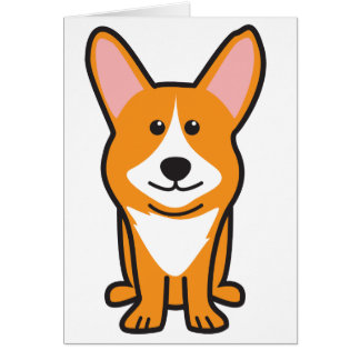 Cartoon van de Hond Corgi van de cardigan de Welse Briefkaarten 0