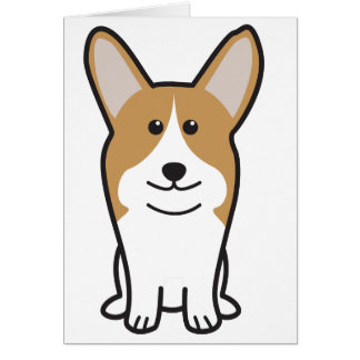Cartoon van de Hond Corgi van Pembroke de Welse Kaart