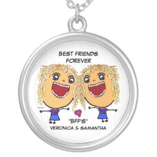 Cartoon van de Vrienden van de blonde de Beste Zilver Vergulden Ketting
