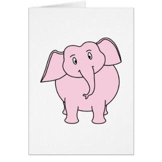 Cartoon van een Roze Olifant Briefkaarten 0