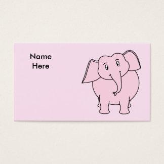 Cartoon van een Roze Olifant Visitekaartjes