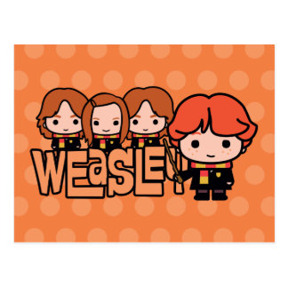 Cartoon Weasley Grafische Siblilings Briefkaart