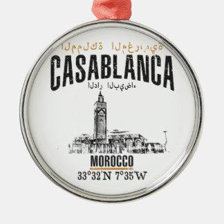 Casablanca Zilverkleurig Rond Ornament