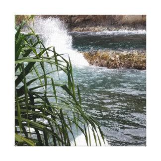 Cascade van het Water van Hawaï de Meeslepende Canvas Afdrukken