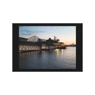 Casino op de Rivier van de Mississippi Canvas Afdruk