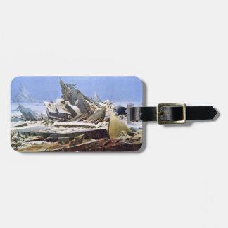 CASPAR DAVID FRIEDRICH - het zee van ijs 1824 Bagagelabel