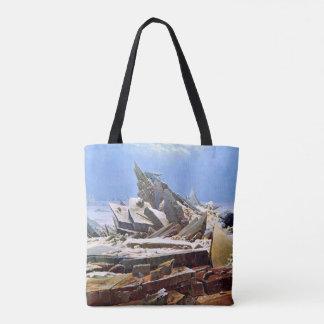 CASPAR DAVID FRIEDRICH - het zee van ijs 1824 Draagtas