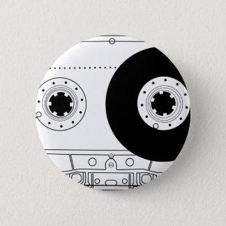 cassette van de cassette retro grafische vintage ronde button 5,7 cm