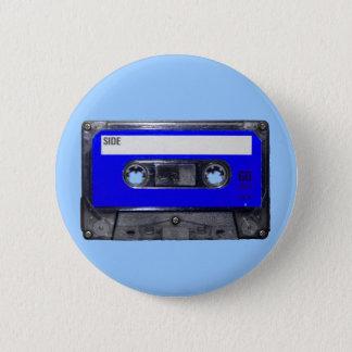 Cassette van het Etiket van de vintage jaren '80 Ronde Button 5,7 Cm