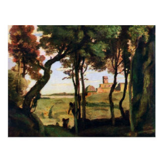 Castel Gandolfo door Corot Jean-Baptiste-Camille Briefkaart