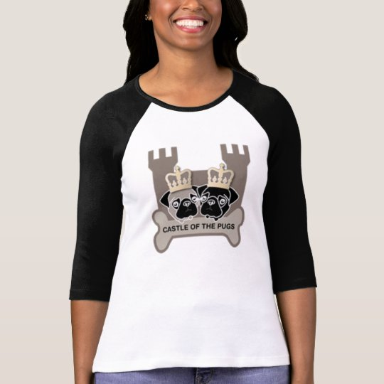 castle of the pugs getailleerd dames shirt