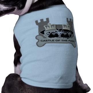castle of the pugs hondentrui(naam eigen hond) mouwloos hondenshirt