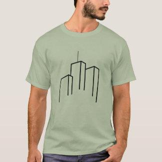 Casual T-shirt met wolkenkrabberontwerp