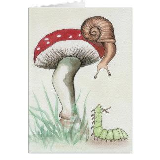 Caterpillar and Snail Kaart
