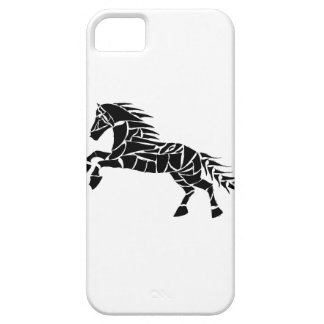 Cavallerone - zwart paard barely there iPhone 5 hoesje