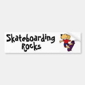 CB- het Met een skateboard rijden van de Hond van  Bumpersticker