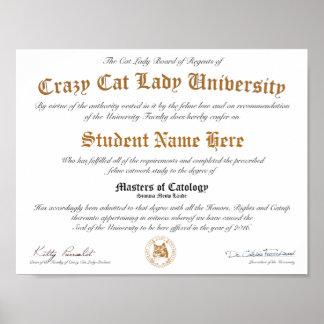 CCLU Diploma - Gouden Verbinding - het Portret van Poster