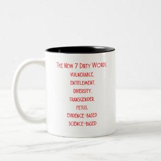 CDC Nieuwe 7 Vuile Woorden Tweekleurige Koffiemok