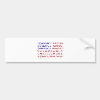 CDC verboden woorden - vlag - Stickers