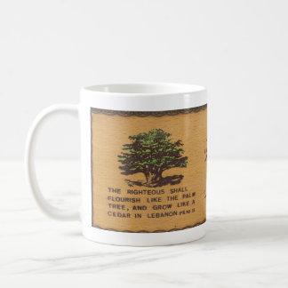 Ceder van de Mok van de Koffie van Libanon