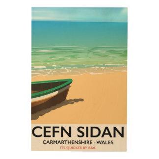Cefn Sidan, de vintage spoorwegen van Foto Op Hout