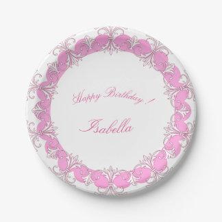 Celebrations_Monogram_French-Princess_Rose-Ornate Papieren Bordje