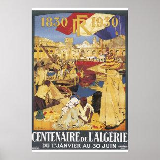 Centenaire DE L'Algerie Vintage het Poster van de