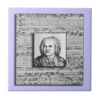 Ceramiektegel van de Muziek van Bach de Barokke Tegeltje